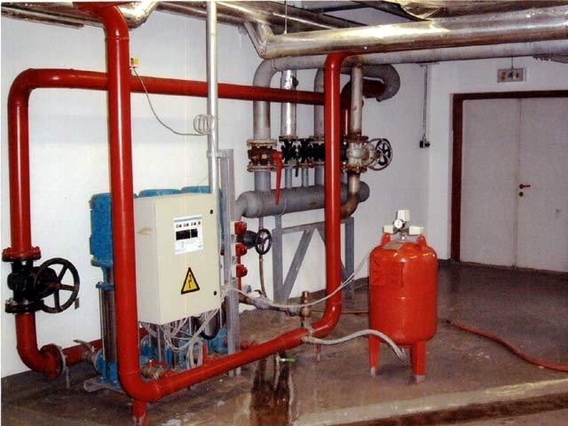 проектирование водяных установок пожаротушения